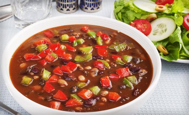 Суп с фаршем и фасолью консервированной