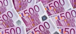 Eurogeldscheine - 500 Euroscheine [ (c) www.BilderBox.com, Erwin Wodicka, Siedlerzeile 3, A-4062 Thening, Tel. + 43 676 5103678.Verwendung nur gegen HONORAR, BELEG, URHEBERVERMERK nach AGBs auf bilderbox.com]