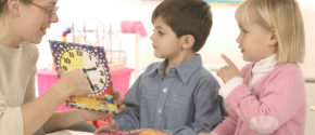 Kindergarten Students Learning to Tell Time 2003